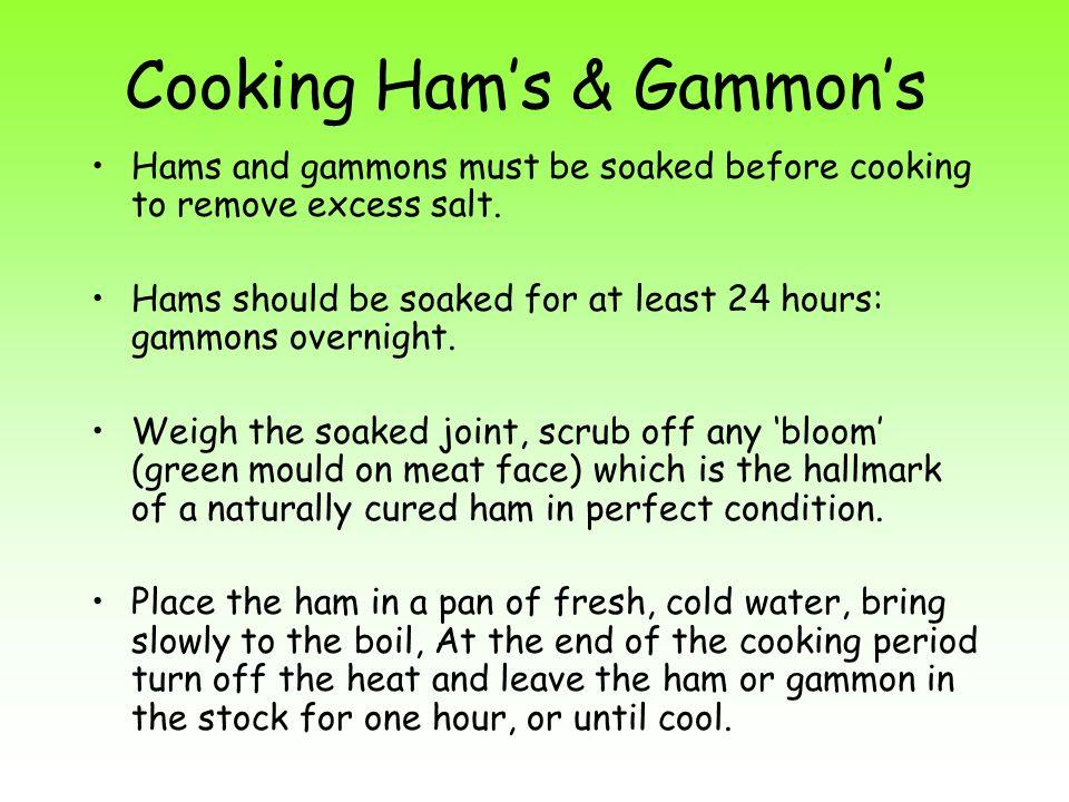 Cooking Ham's & Gammon's