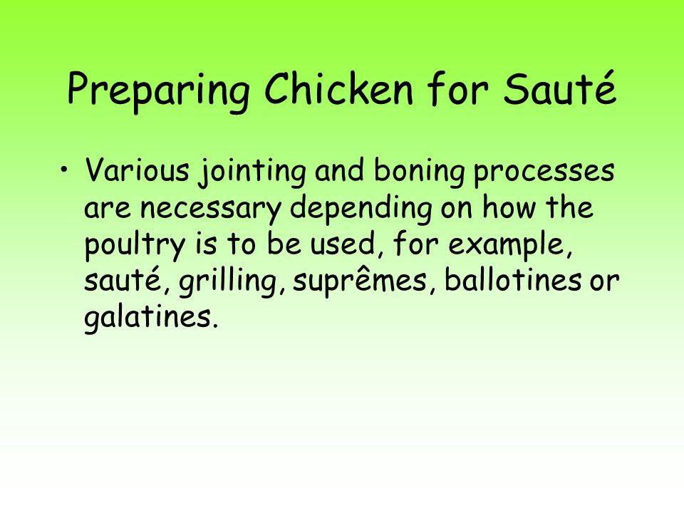 Preparing Chicken for Sauté