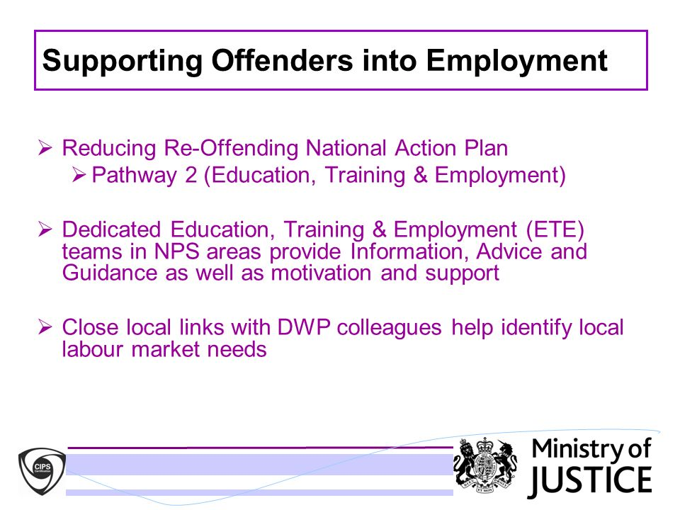 Supporting Offenders into Employment