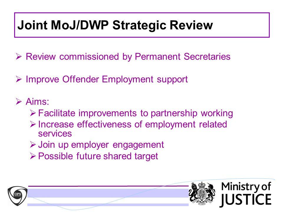 Joint MoJ/DWP Strategic Review