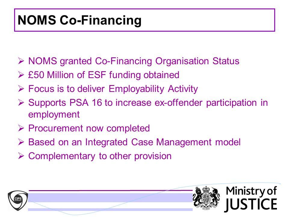 NOMS Co-Financing NOMS granted Co-Financing Organisation Status