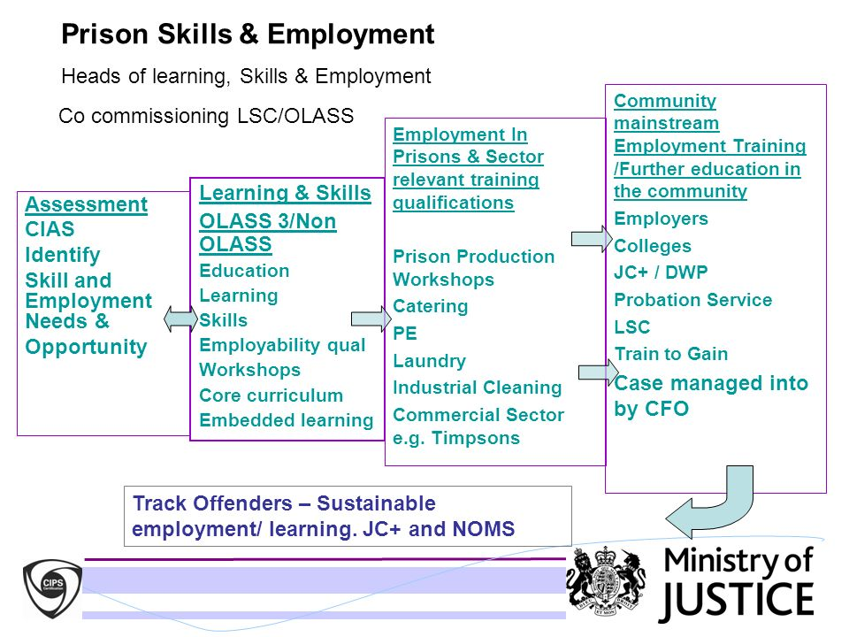 Prison Skills & Employment Heads of learning, Skills & Employment Co commissioning LSC/OLASS