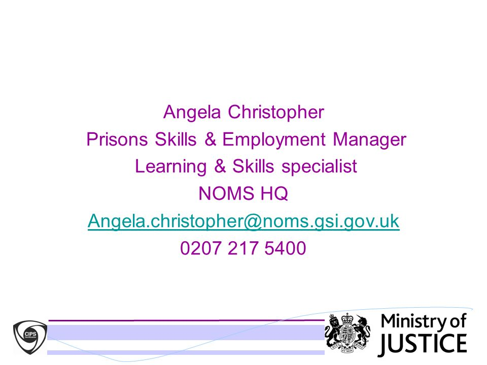 Prisons Skills & Employment Manager Learning & Skills specialist