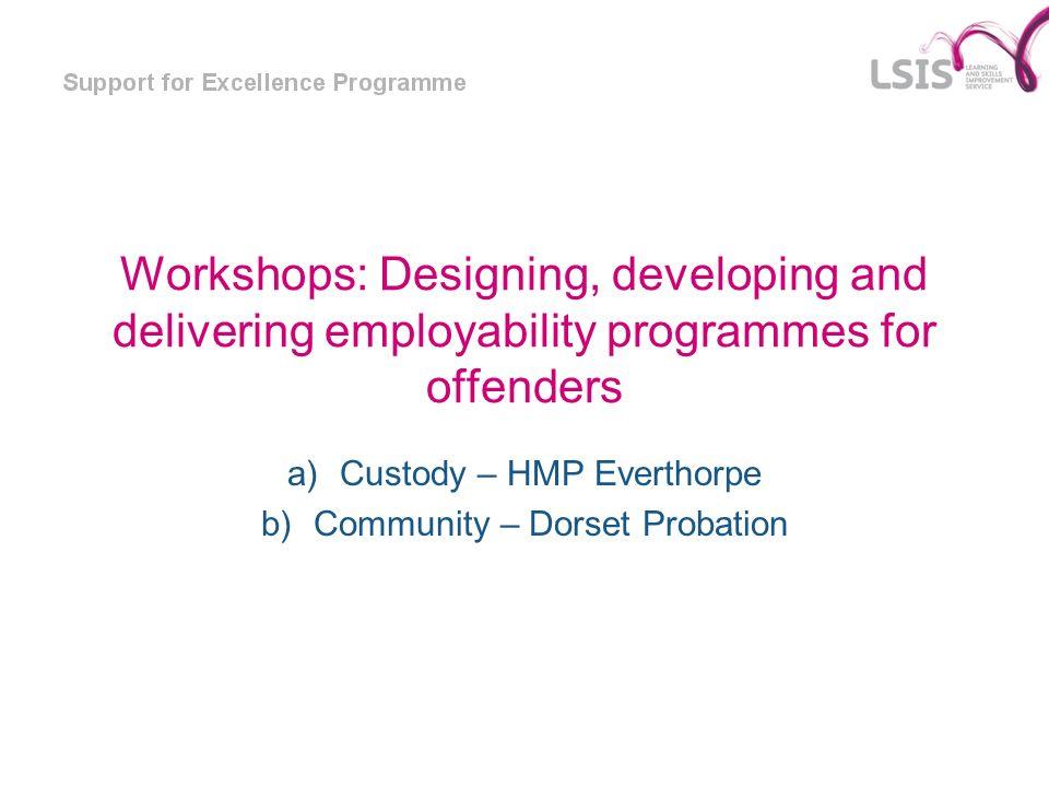 Custody – HMP Everthorpe Community – Dorset Probation