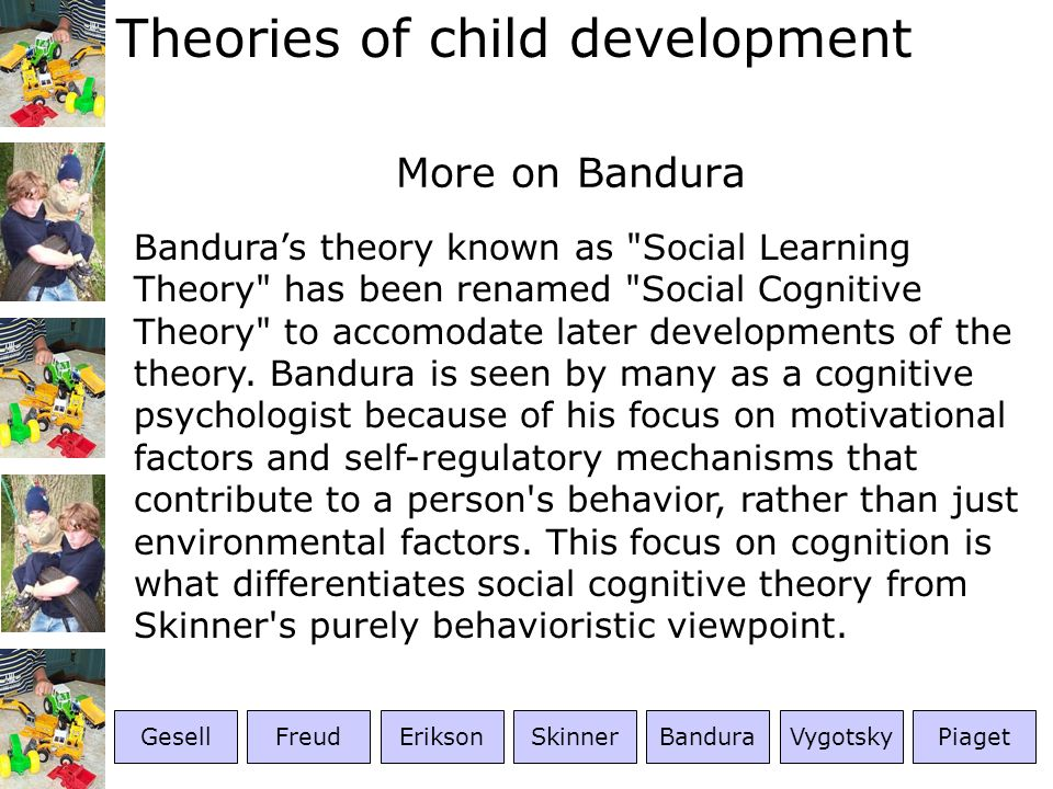 More on Bandura
