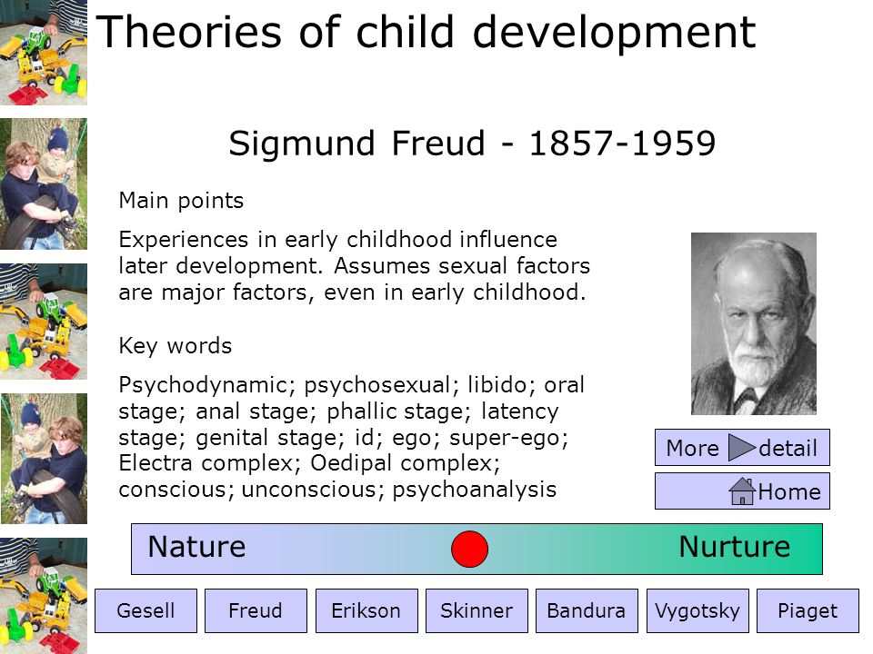 Sigmund Freud - 1857-1959 Nature Nurture Main points