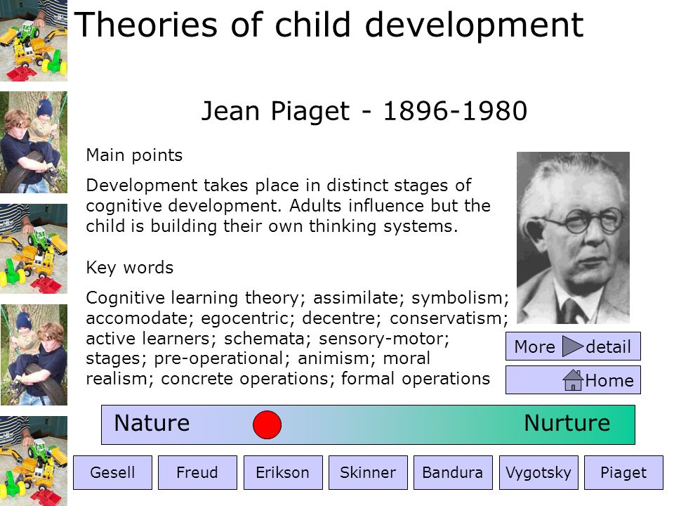 Jean Piaget - 1896-1980 Nature Nurture Main points
