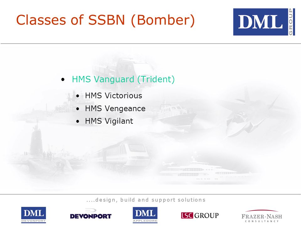 Classes of SSBN (Bomber)