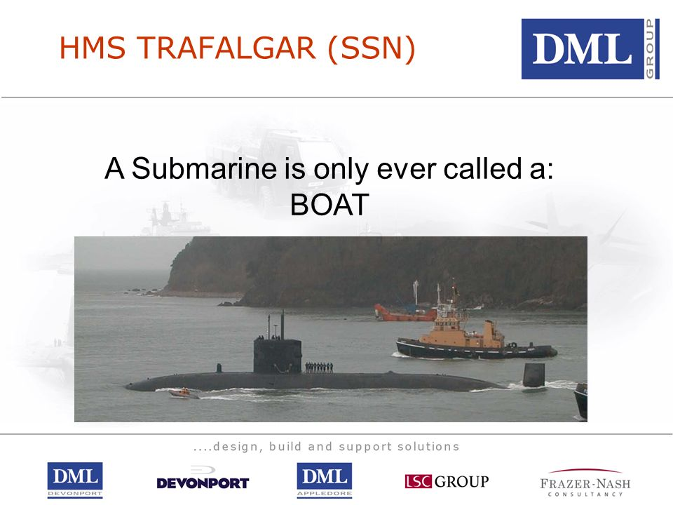 A Submarine is only ever called a: BOAT