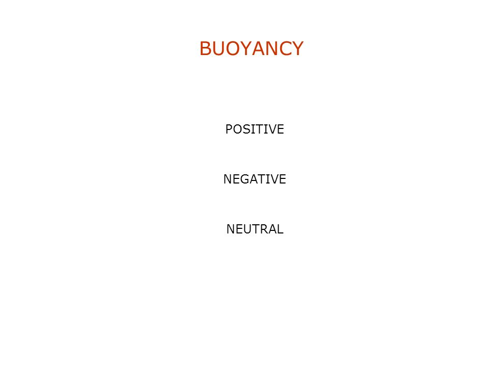 BUOYANCY POSITIVE NEGATIVE NEUTRAL