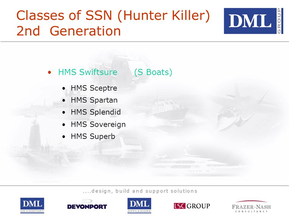 Classes of SSN (Hunter Killer) 2nd Generation
