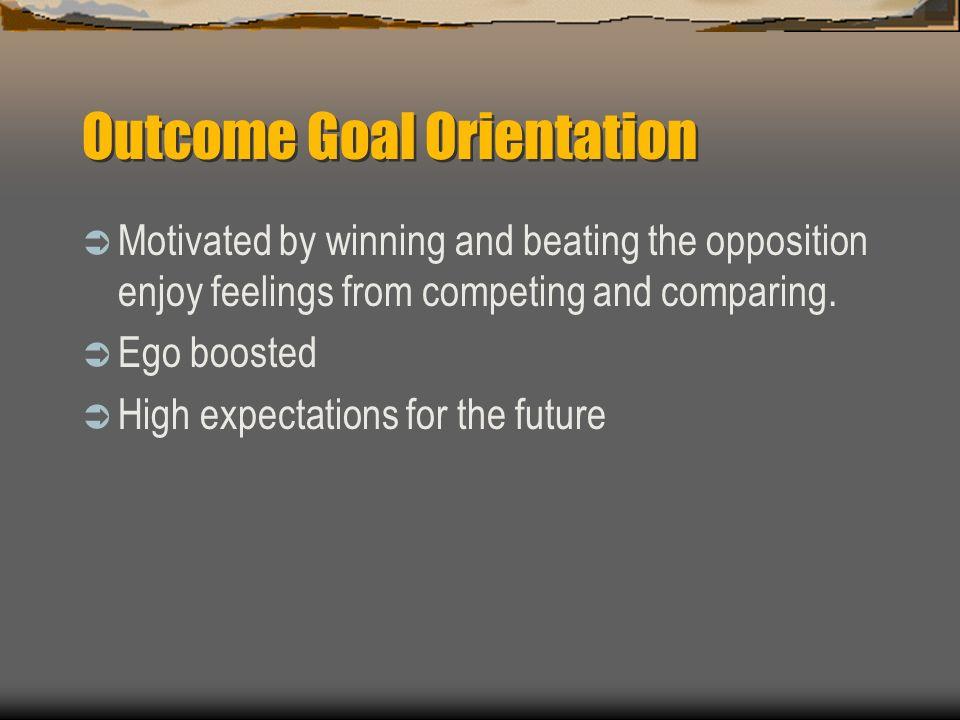 Outcome Goal Orientation