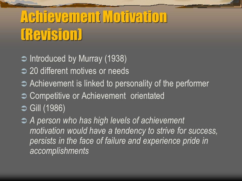 Achievement Motivation (Revision)