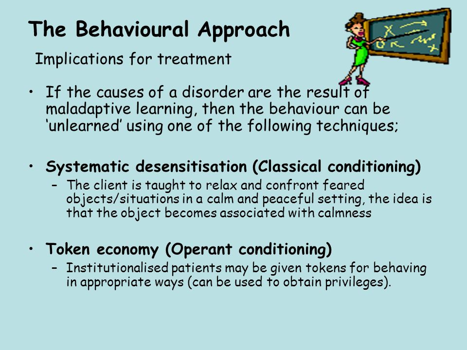 The Behavioural Approach Implications for treatment