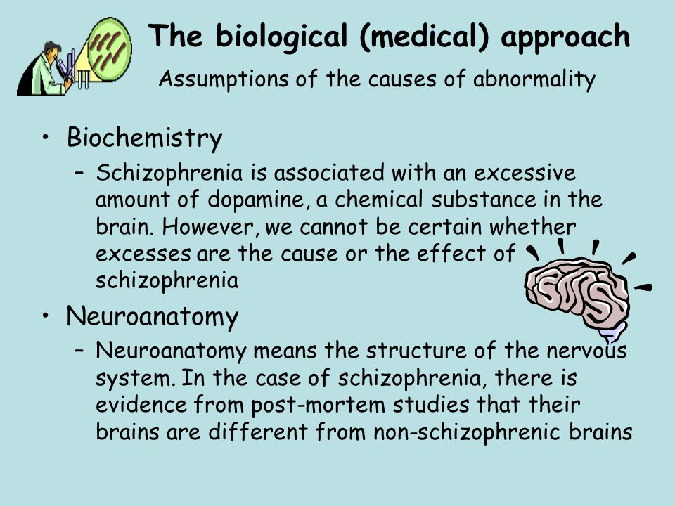 The biological (medical) approach Assumptions of the causes of abnormality