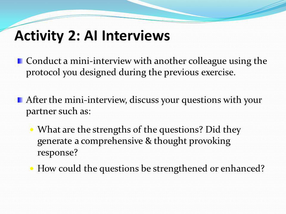 Activity 2: AI Interviews