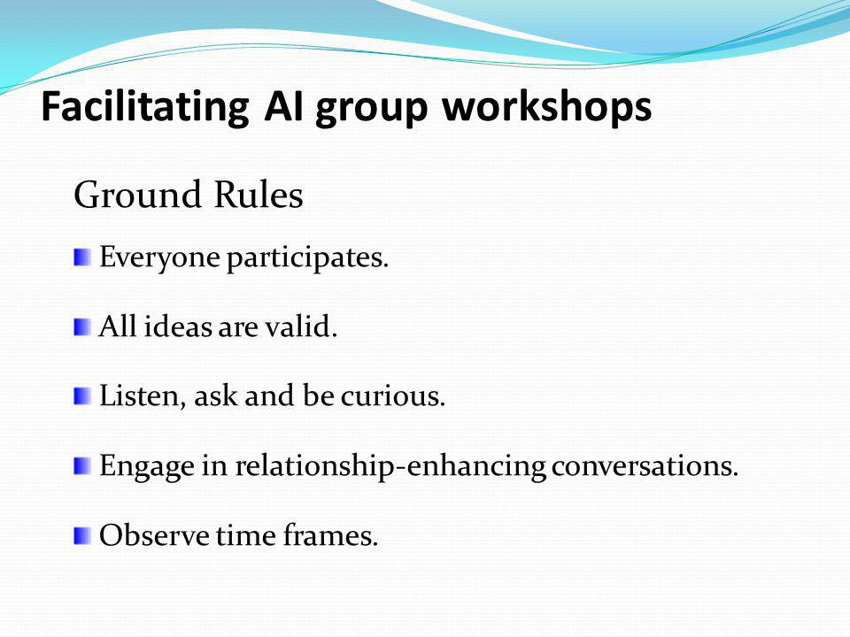 Facilitating AI group workshops