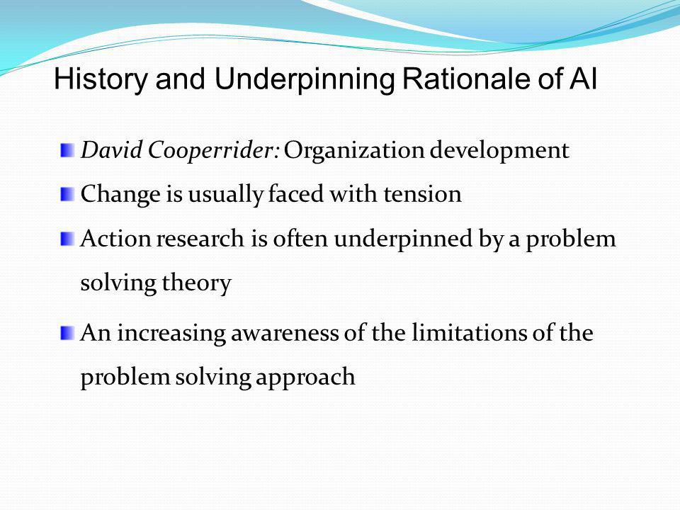 History and Underpinning Rationale of AI