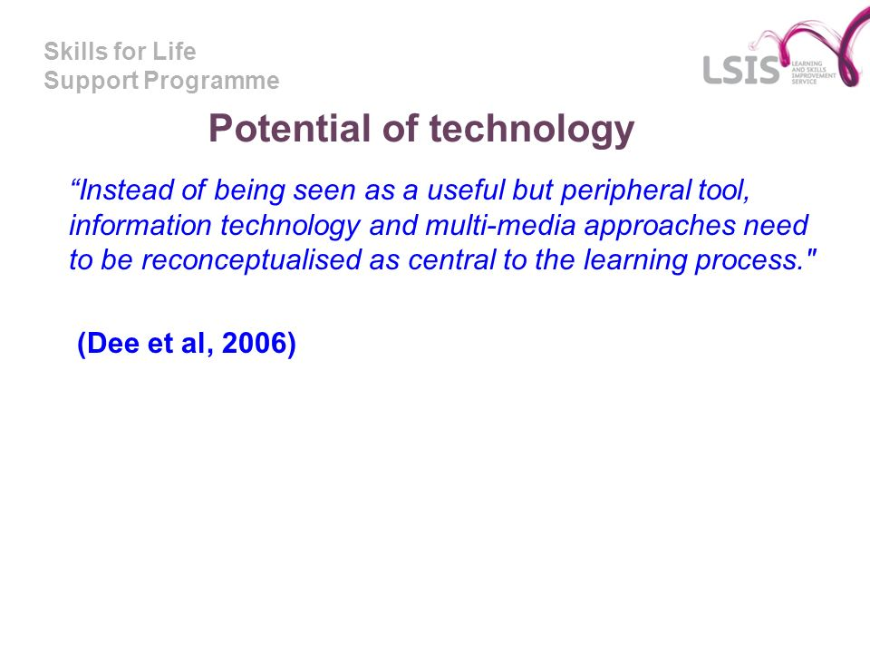 Potential of technology