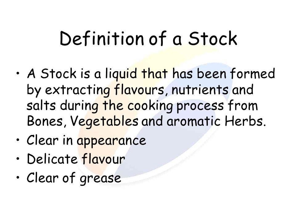 Definition of a Stock