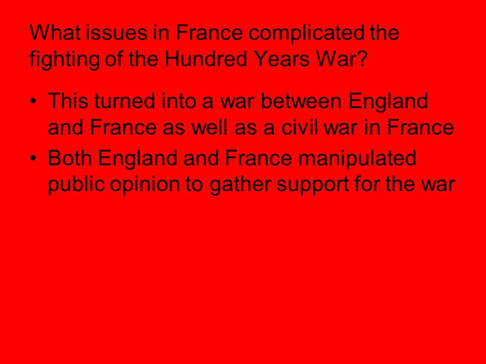 a history of the hundred years war between england and france The hundred years war: the english in france 1337-1453  relationship'  between french and english may well have its origin in the hundred years war.