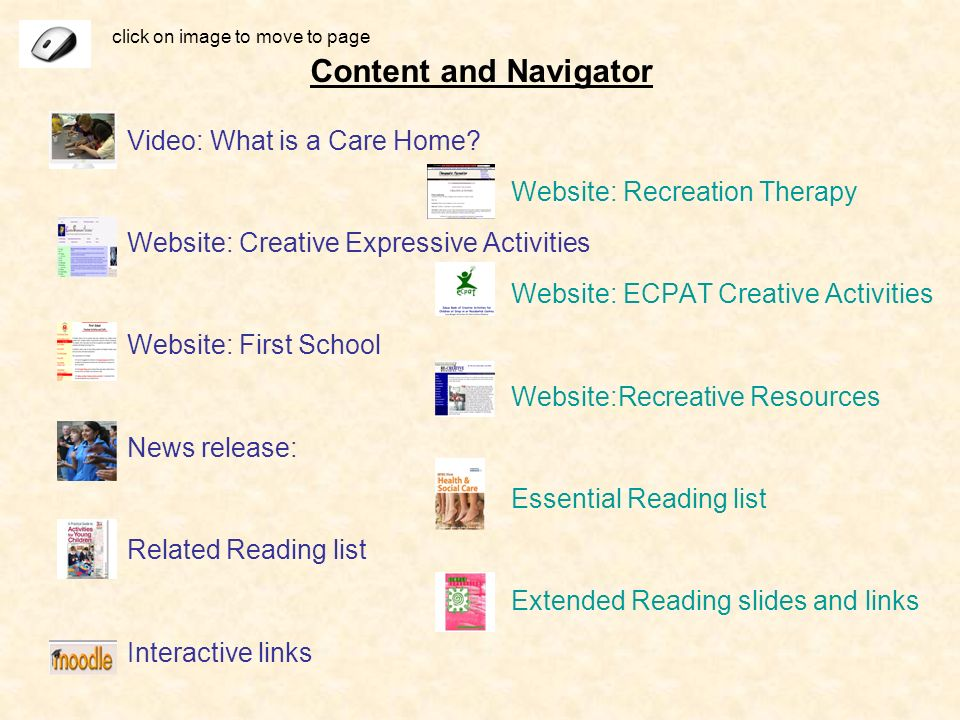 Content and Navigator Video: What is a Care Home