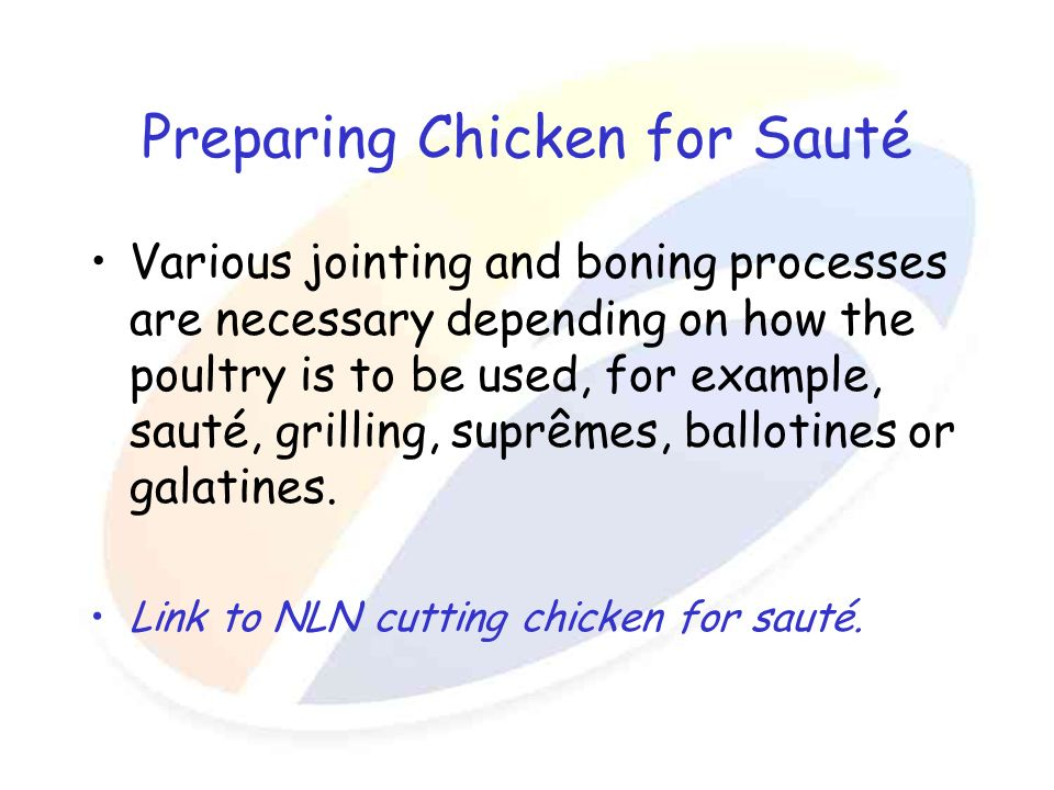 Preparing Chicken for Sauté