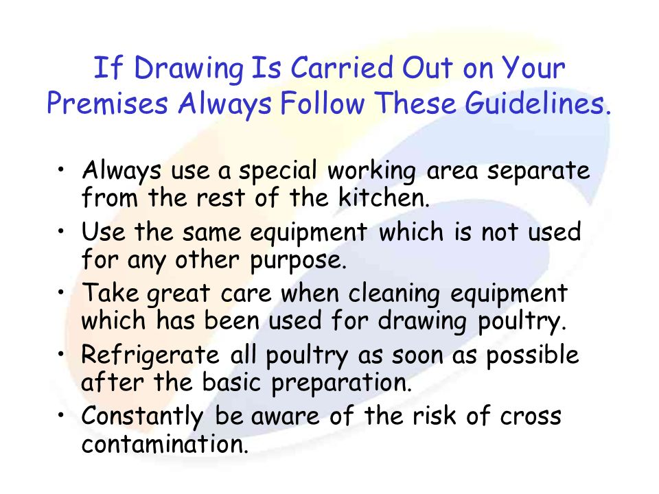 If Drawing Is Carried Out on Your Premises Always Follow These Guidelines.