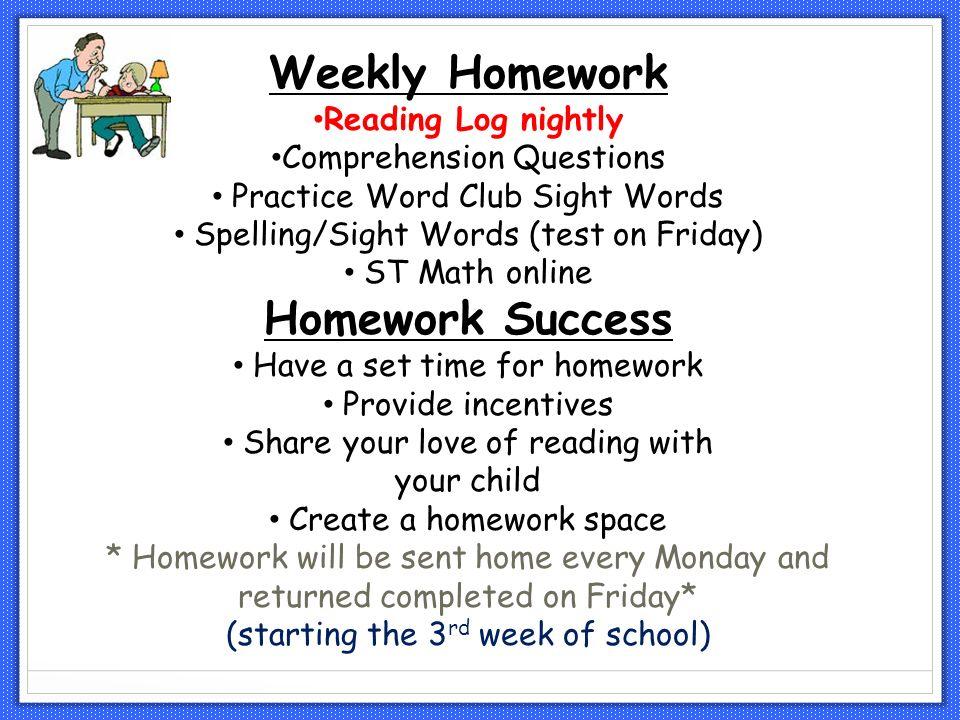weekly homework log - Petit.comingoutpoly.co