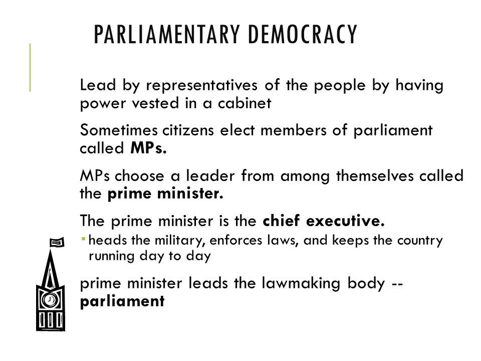 Parliamentary Democracy Citizen Participation ...