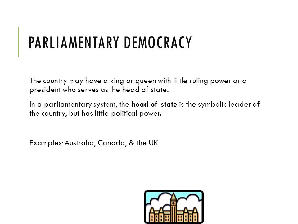 Parliamentary Democracy Citizen Participation ...