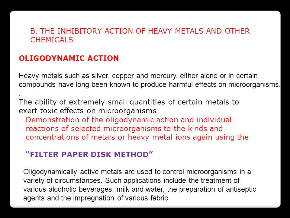 inhibitory effect of heavy metal ion s on algae Protective effect of proline on metal toxicity through inhibition of lipid peroxidation  key words: chlorella  phenylmercuric ions into metallic mercury which is.