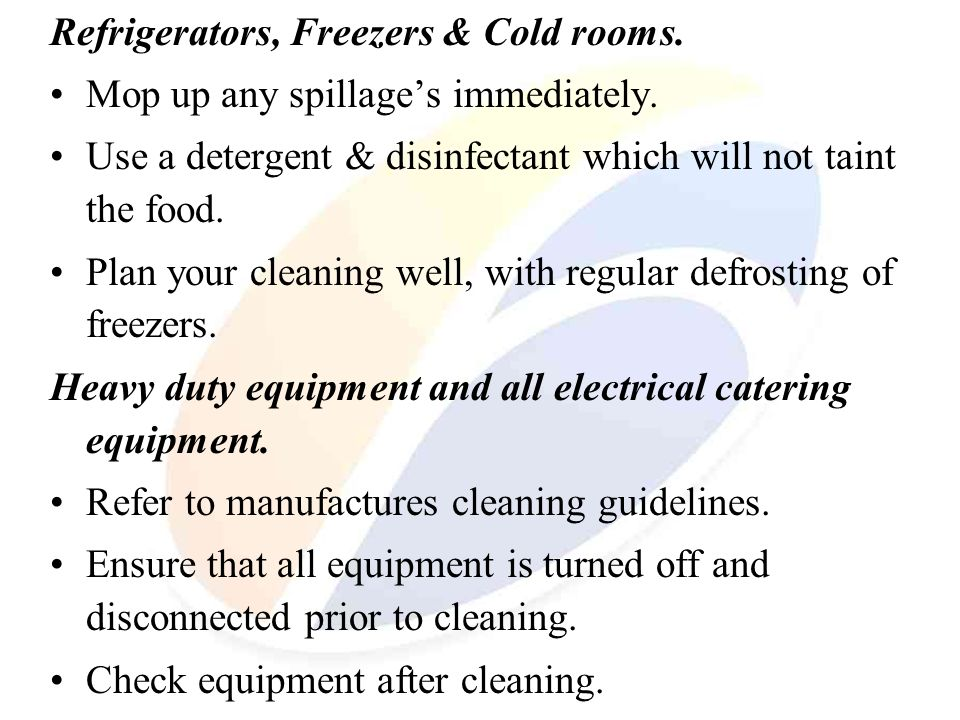 Refrigerators, Freezers & Cold rooms.