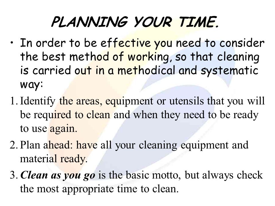 PLANNING YOUR TIME.
