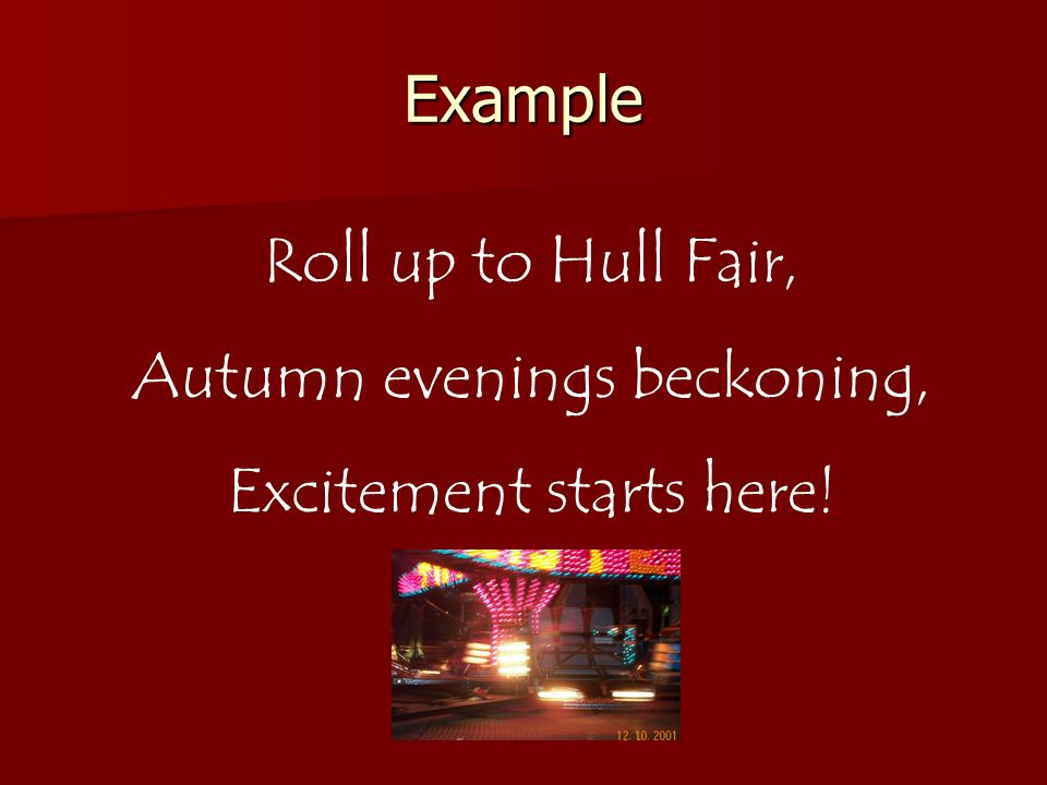 Autumn evenings beckoning, Excitement starts here!