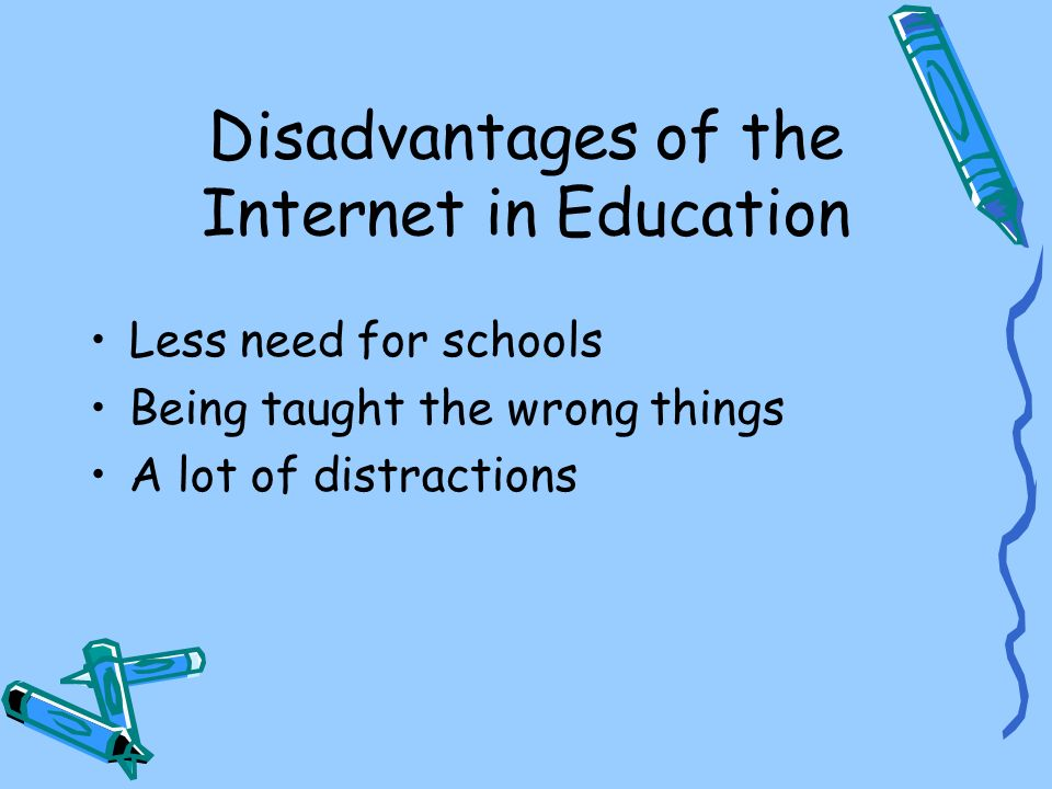 Disadvantages of the Internet in Education