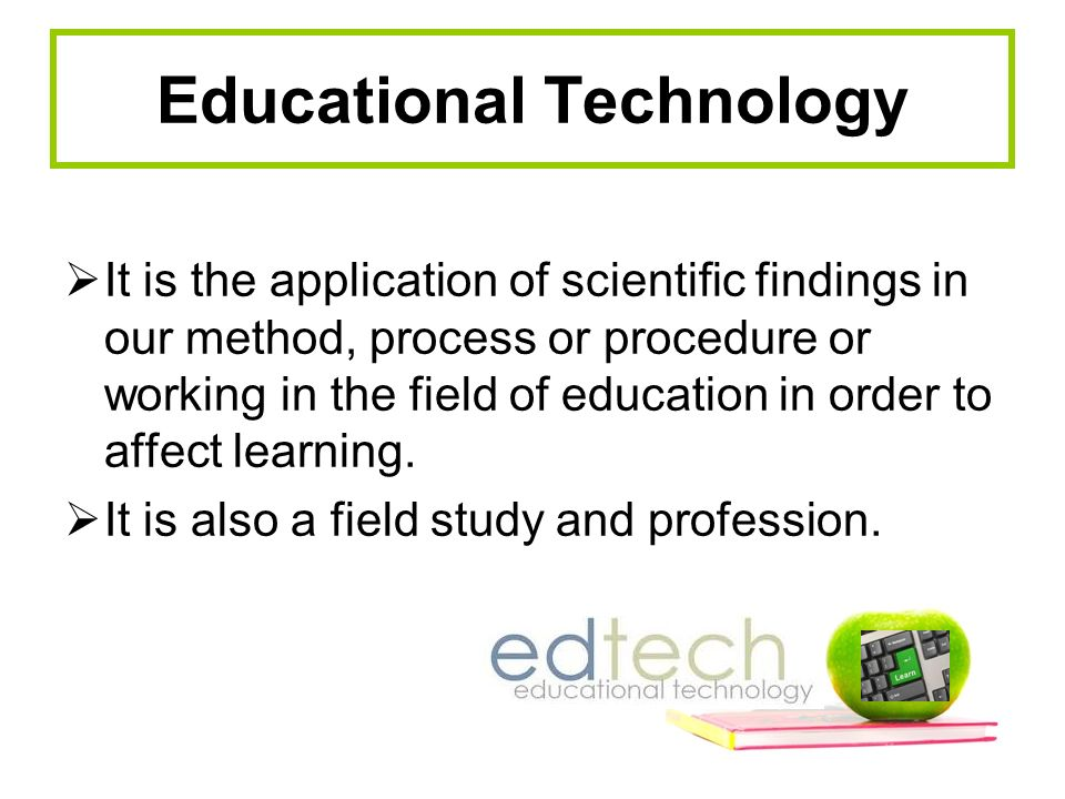 Apply to Educational Technology