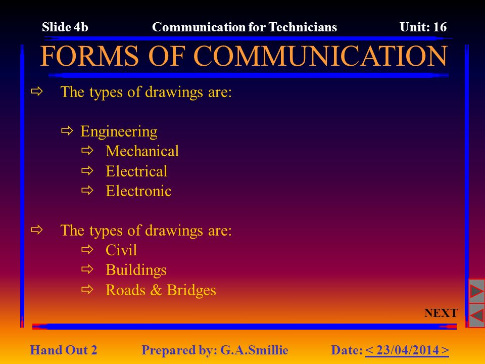 Slide 4b Communication for Technicians Unit: 16