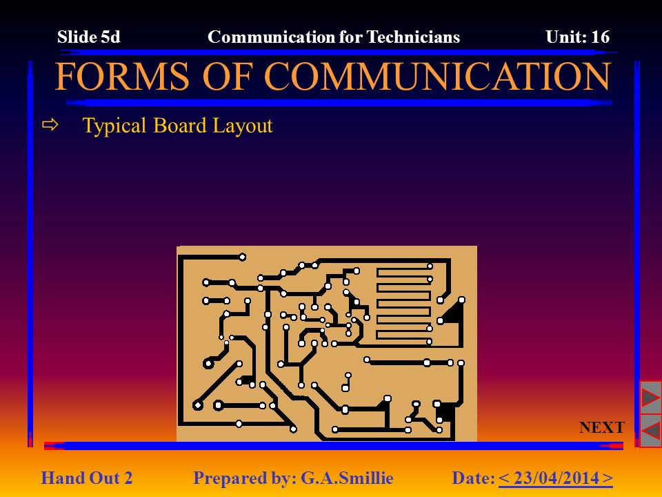 Slide 5d Communication for Technicians Unit: 16