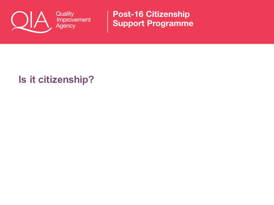 Is it citizenship