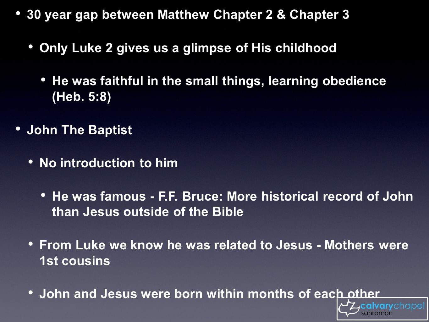 an introduction to the life of john the baptist The gospel of matthew the death of john the baptist (14:1-12)  introduction 1 a sad story in the bible is that of the death of john the  baptist a.