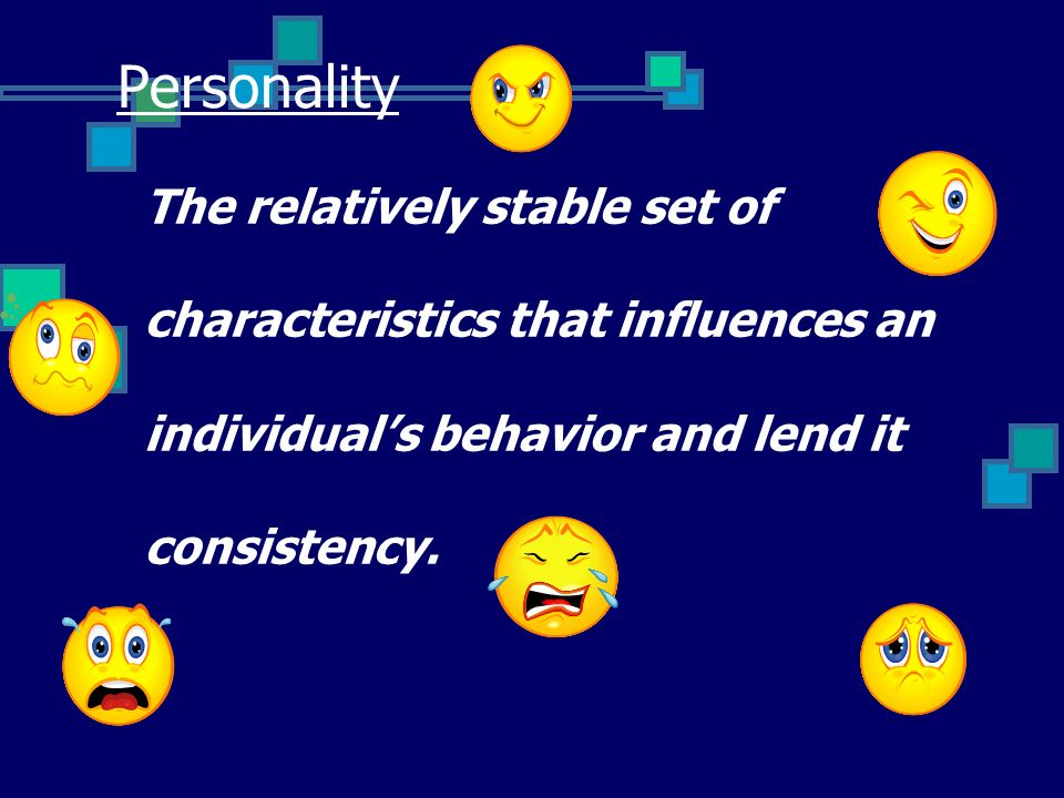 an individual's behaviour may be influenced Individual behavior at work is influenced by many factors, including: motivation, ability, role perception, and situation (mars model) as well as individual characteristics: value, personality, perception, emotions, attitudes, and stress.