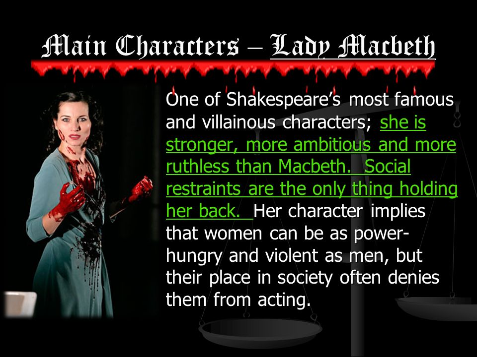 the ambition of three characters in the play macbeth that determined their fate The theme of ambition in macbeth from litcharts | the creators of sparknotes  macbeth is a play about ambition run  wife act on their own to fulfill their .