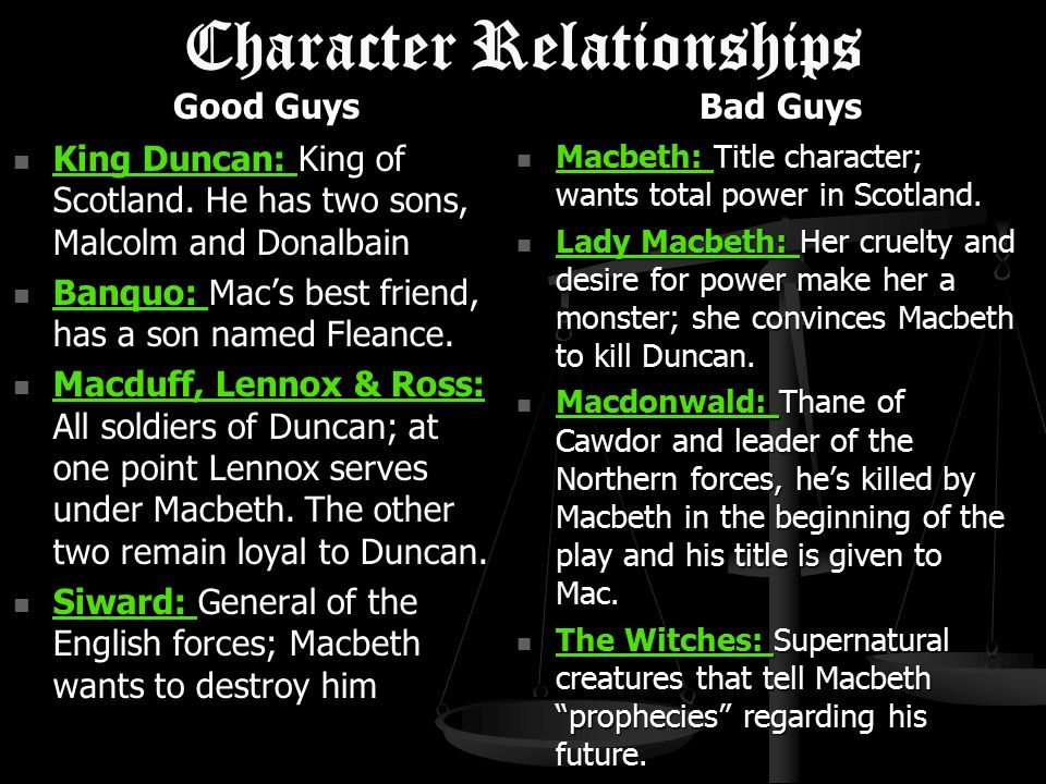 What is the relationship between Macbeth and Duncan?