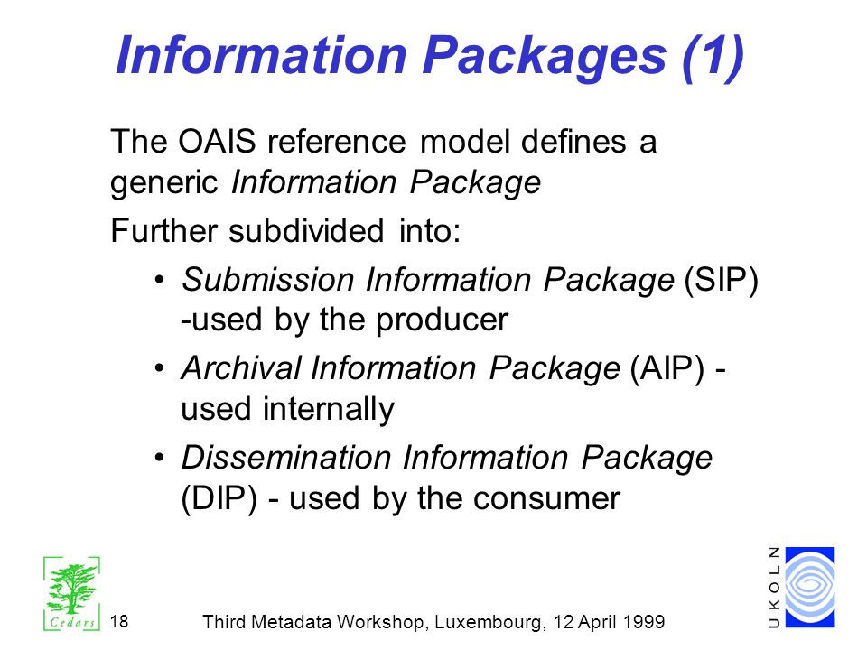 Information Packages (1)