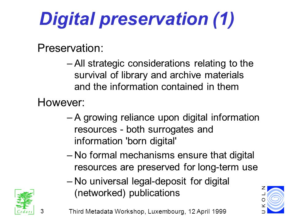 Digital preservation (1)