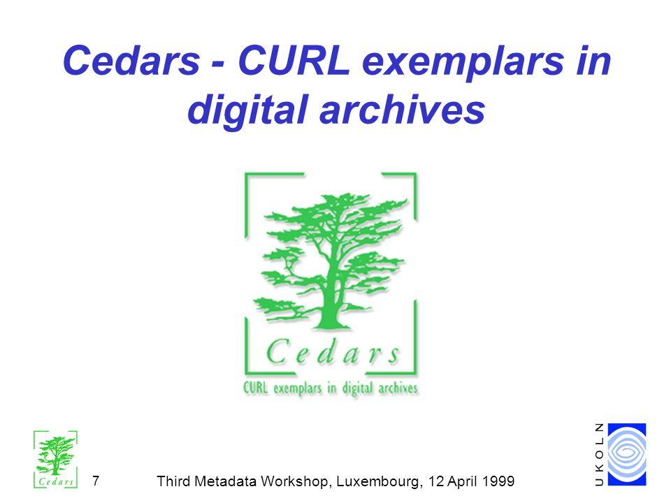 Cedars - CURL exemplars in digital archives