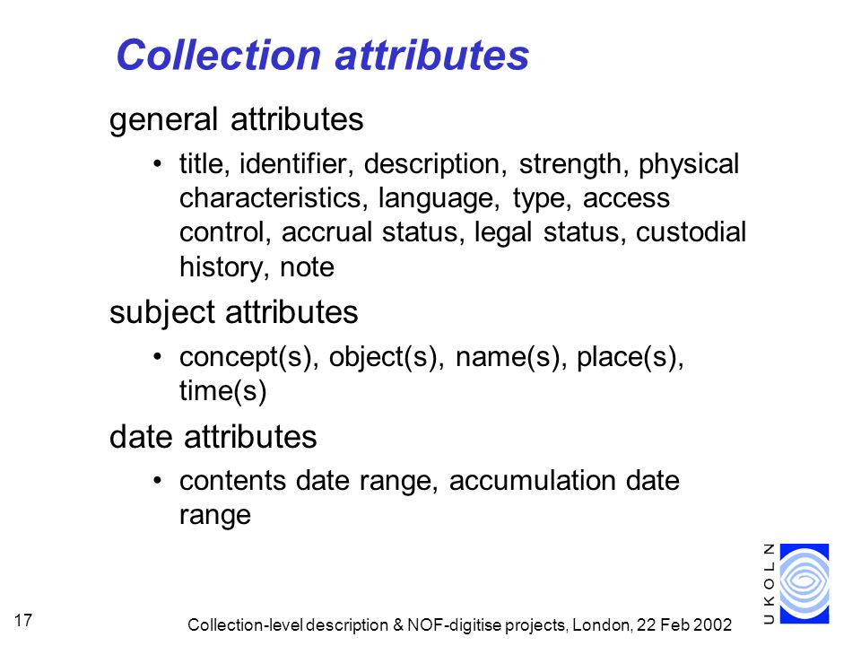 Collection attributes