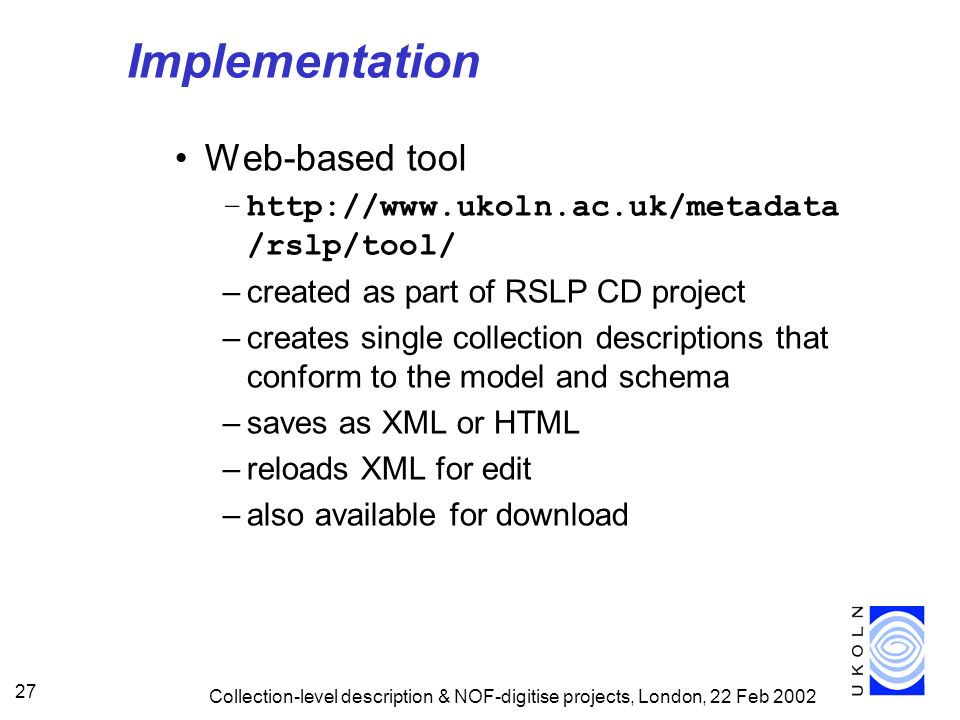 Implementation Web-based tool