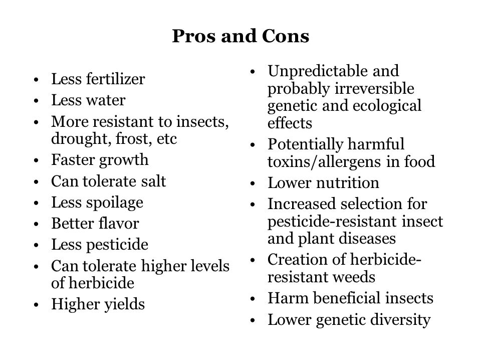 Genetic Engineering in Humans Pros and Cons List